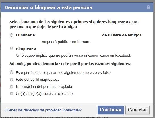 Como elimnar o bloquear a amigos en Facebook