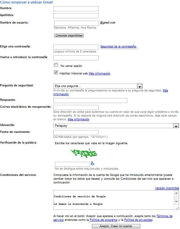 Cómo crear y usar corre de hotmail y gmail en forma segura