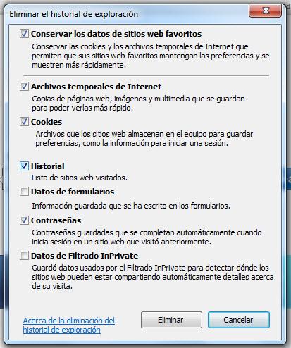 Cómo borrar la contraseña en internet explorer