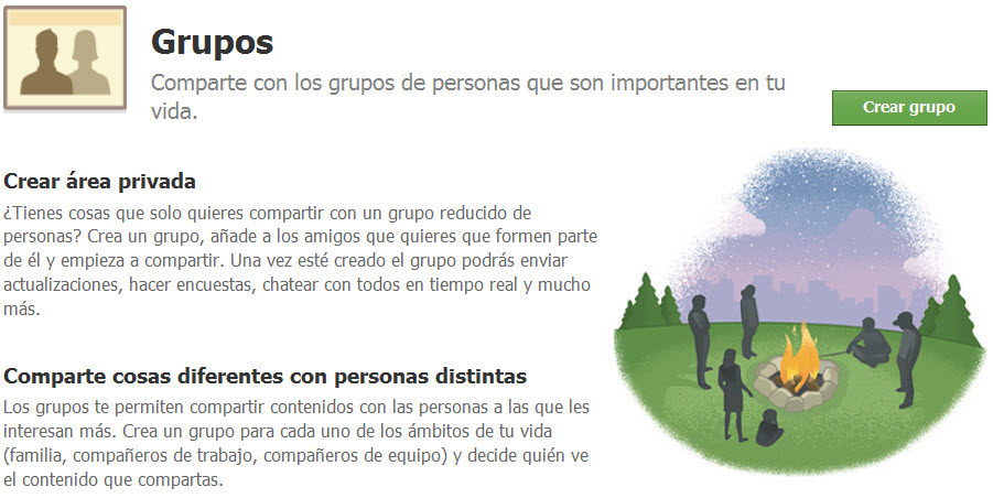 Crea grupos en Facebook para compartir tus fotografías en familia