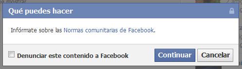 Como denunciar una fanpage en Facebook