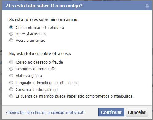 Cómo eliminar o denunciar etiquetas en Facebook