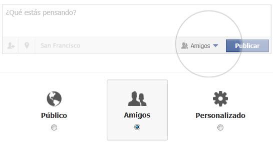 Configurar la opcion de privacidad en Facebook