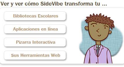 Interactúe con sus alumnos en forma online con sidevibe