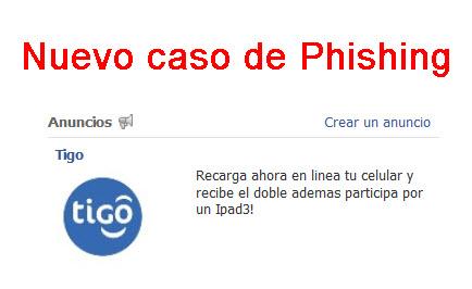 Nuevo caso de Phishing a través de los anuncios de Facebook