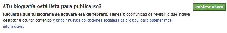 Tu biografía en Facebook