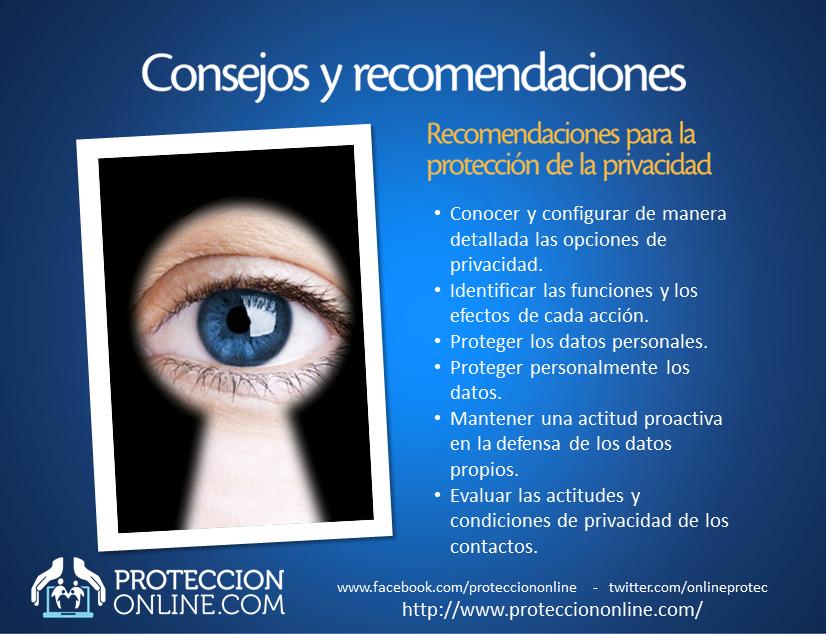 RECOMENDACIONES: Cuidado con la privacidad
