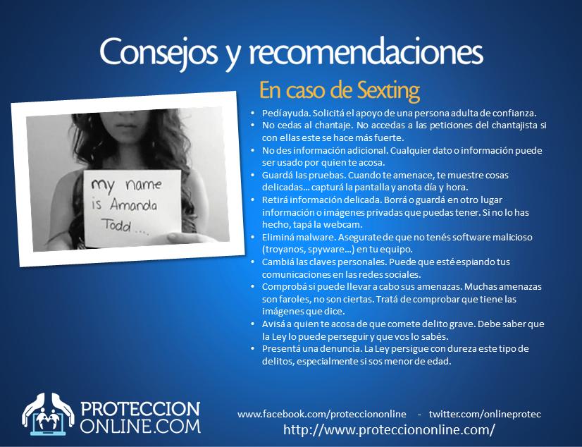 RECOMENDACIONES: Evitá el Sexting