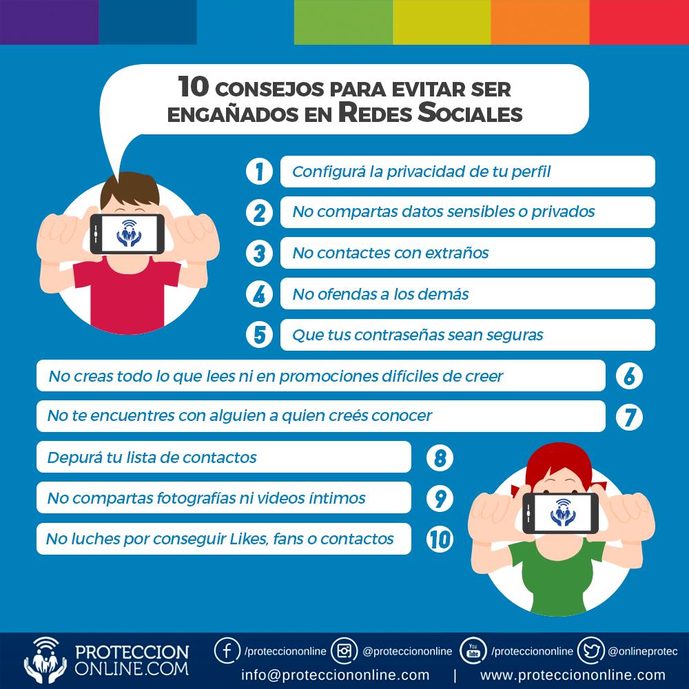 10 consejos para evitar ser engañados en Redes Sociales