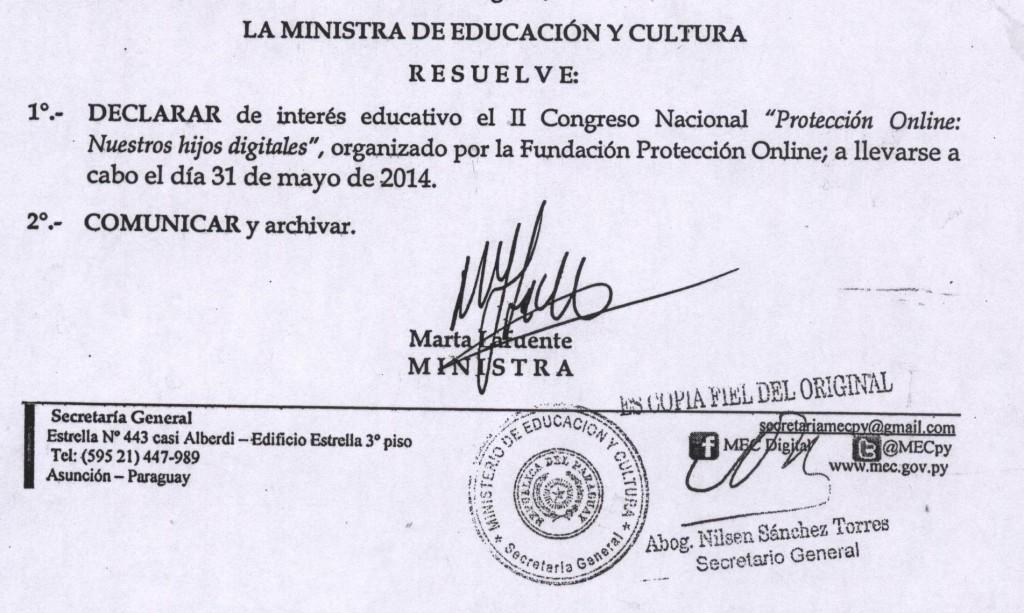 El MEC declara de interés educativo el 2º Congreso Nacional Nuestros Hijos Digitales