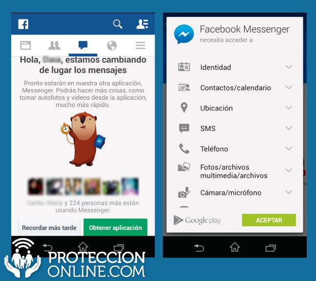¿Leés los permisos que otorgás a Facebook Messenger?