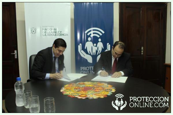 Protección Online firma convenio con la Secretaría Nacional de la Niñez y la Adolescencia